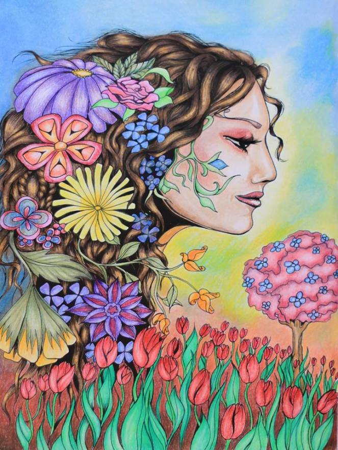 Flower girl - Fafahe coloring book