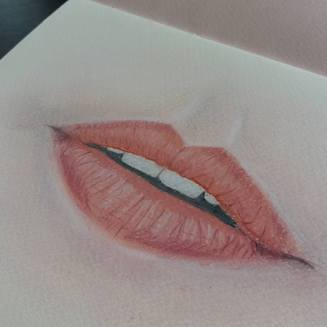 Lips-soft pastels-blayacfineart